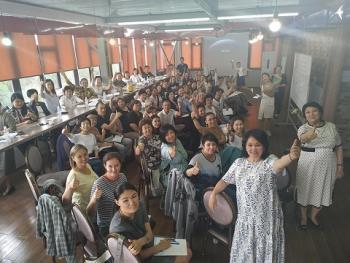 Бишкек. Семинар по родологии. Родители и дети.