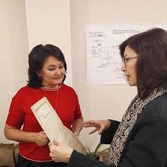 Алия Сагимбаева. Семинар по родологии в Бишкеке. 2019 г.