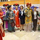 Лариса Докучаева на съедзе Ассамблеи народов Евразии. 2017 год